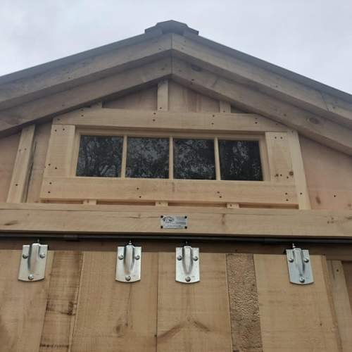 Transom Windows are most often installed above barn doors.