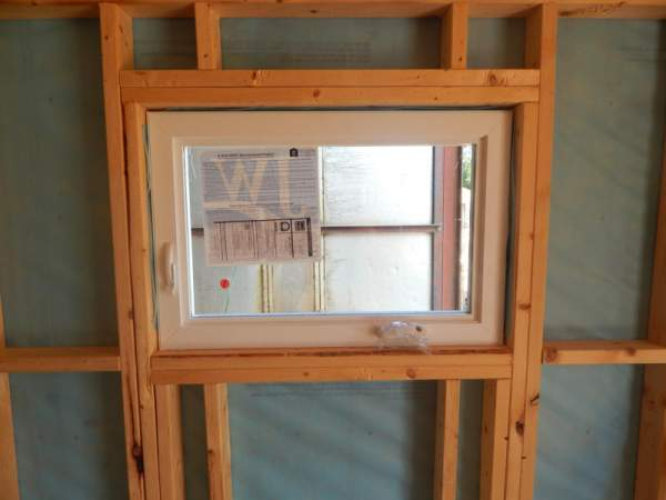 3x2 Insulated Casement Window installed in a three season cabin.