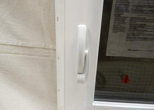 Insulated windows include built-in locks for safety and security.