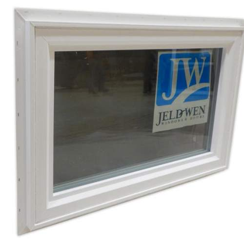 The 3x2 insulated awning window is made with double pane Low-E glass which is energy efficient.