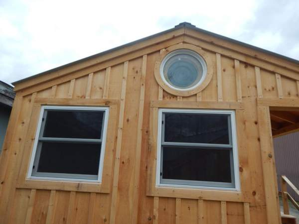 3x3 double hung windows installed in a four season cabin.