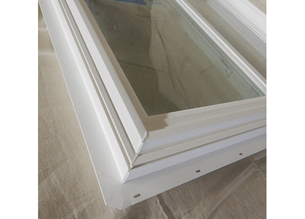 Detail of one of our insulated sliding windows.