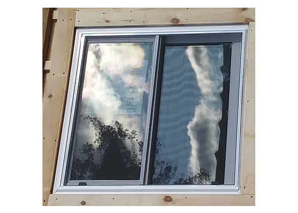 3x3 Insulated Window with Screen for off-grid cabins