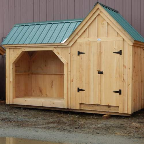 "4' JCS Built 2"" thick Pine Double Doors on 4x14 Vermont Gem.  Exterior view.  Black Turn latch."