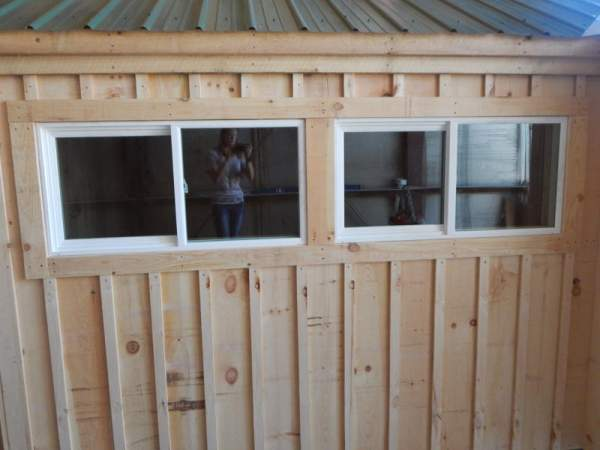 Insulated slider windows are easy to install in new buildings.