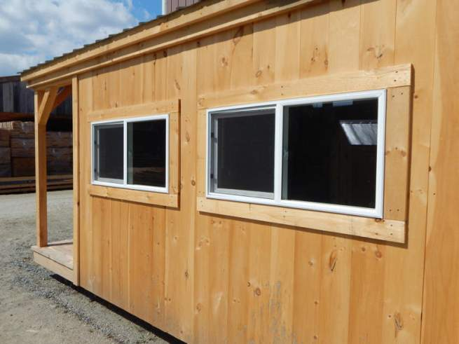 4x2 Insulated Slider Windows are a popular window solution for our four season cabins, cottages and tiny houses.