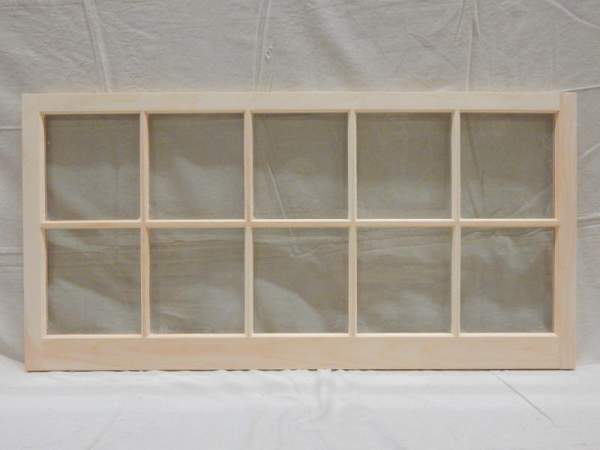 Barn sash windows are built of all-natural pine and come unfinished. They are ready to paint or stain to match your decor.