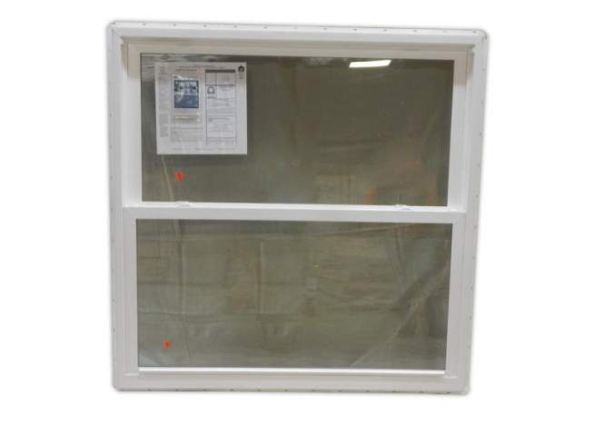 4x4 insulated double hung windows are built with a white vinly inteiror and exterior for easy maintenance.
