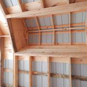 When installing a functional cupola you will want to build a rough opening in the roof so the interior of the cupola is exposed.