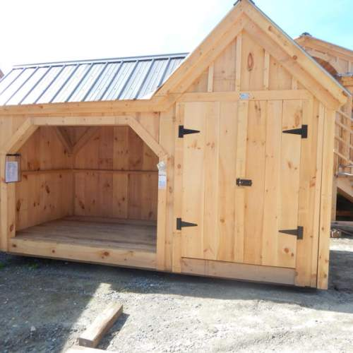 "4' JCS Built 2"" thick Pine Double Doors on 6x14 Vermont Gem.  Exterior view.  Black Turn latch."