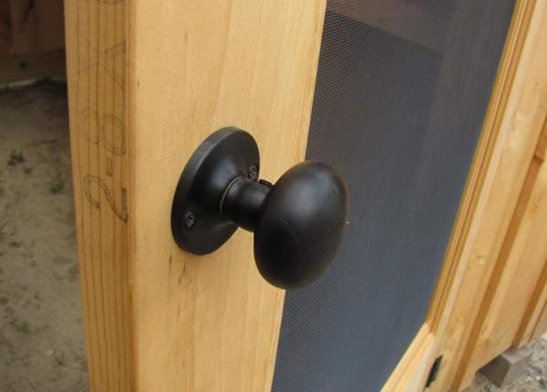 Exterior door handle that comes with the deluxe door hardware kit.