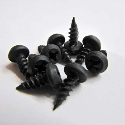 "7/16"" Peanut Screws for use with a #2 Phillips Head.  Black Phosphate."