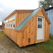 Two 8x1 fixed insulated transom windows were installed above a row of awning windows on this four season cabin.