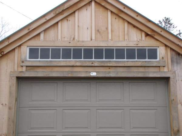 The 8x1 Transom Window was originally added to our One Bay Garage for additional light source above the overhead door.
