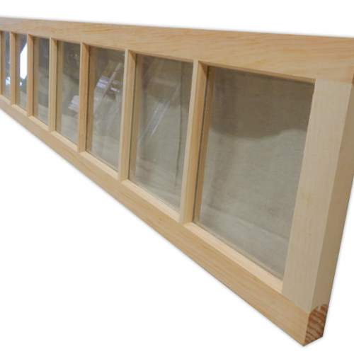 The 8x1 Fixed Transom Window includes twelve true-divided lites.
