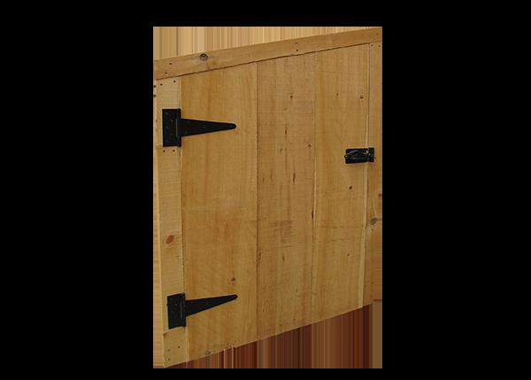 Single Angle Door with Trim