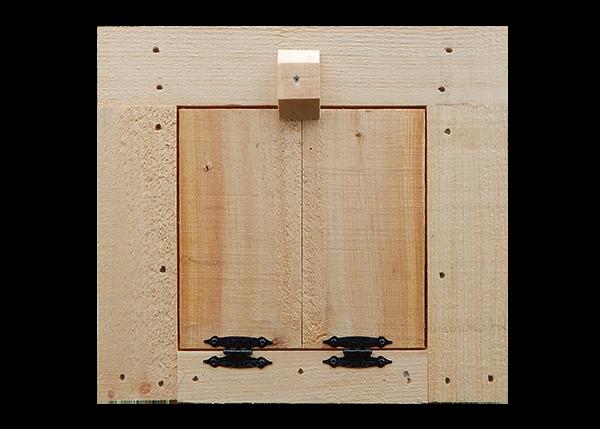 Chicken Coop Door with Hardware and Trim
