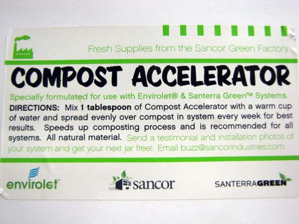This mixture is used to speed up the composting process in composting toilets or outdoor compost bins.