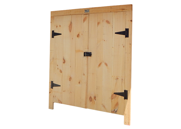 Double Doors with Hardware and Trim
