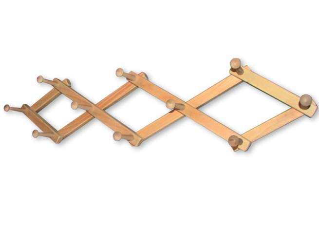 Our expandable coat rack is handmade in Vermont.