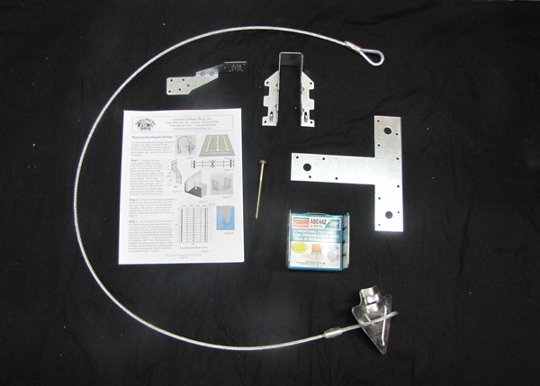 """Hurricane Package includes skid anchors, hurricane ties, post bases, T Straps, 2x6 Joist hangers, 4"""" Timberlock Screws and detailed instructions."""