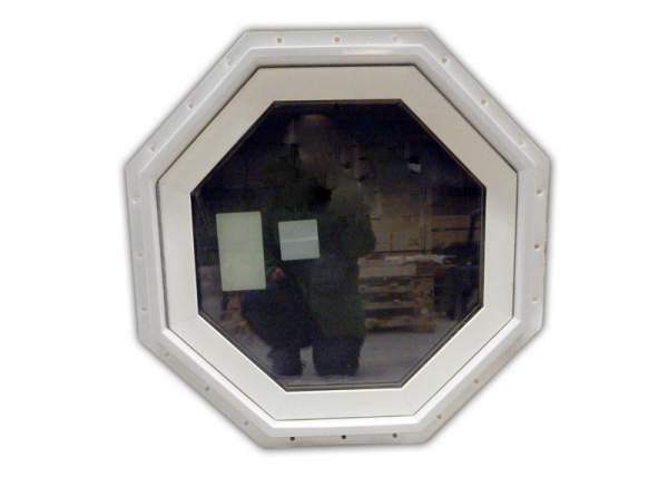 Insulated Octagon Windows come with screens