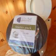 Laveo Dry Flush Toilet cartridge.  Self contained, compact & odorless. For use in Tiny House, cabin, camp or RV.