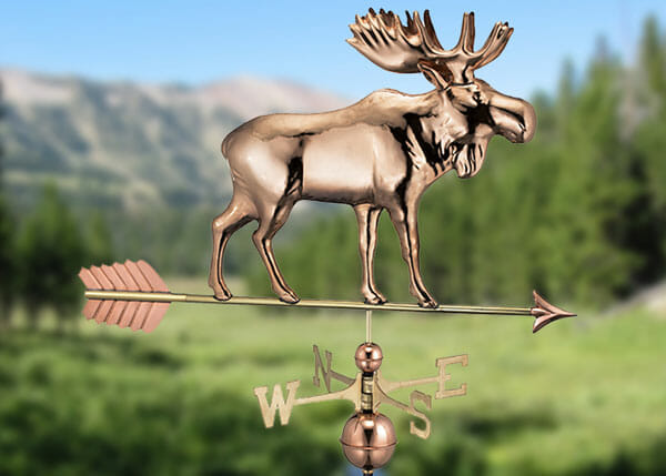 This copper weathervane would look great on a shed, barn, cabin or cottage.
