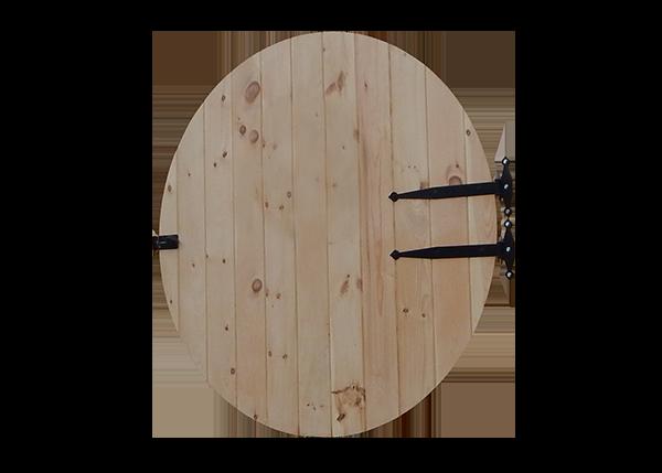 Round Wooden Door