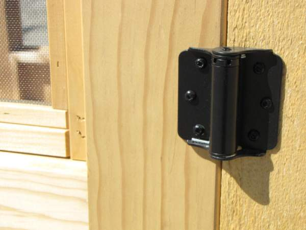 Screen Door Sprin Hinges are steel construction and powder coated black.