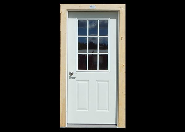 9-Lite Insulated Steel Door with Trim
