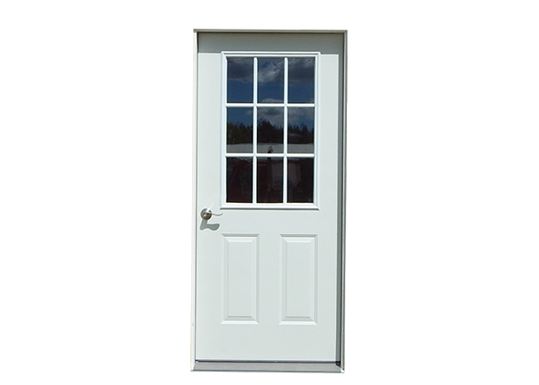 Nine-Lite Insulated Steel Door for Cottages