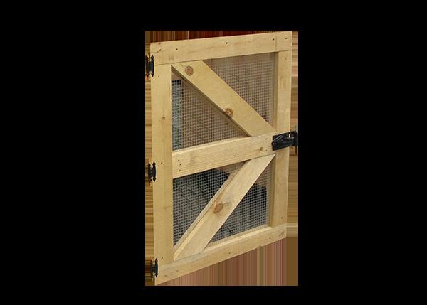 Single Door with Hardware Cloth