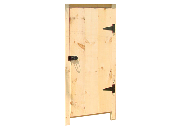 Out-Swing Door with Trim
