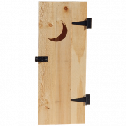 Pine Outhouse Door with Hardware