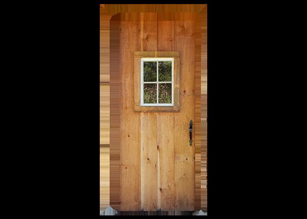 Single In-Swing Door with hardware and window