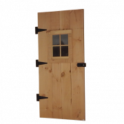 Single Out-Swing Door with Window