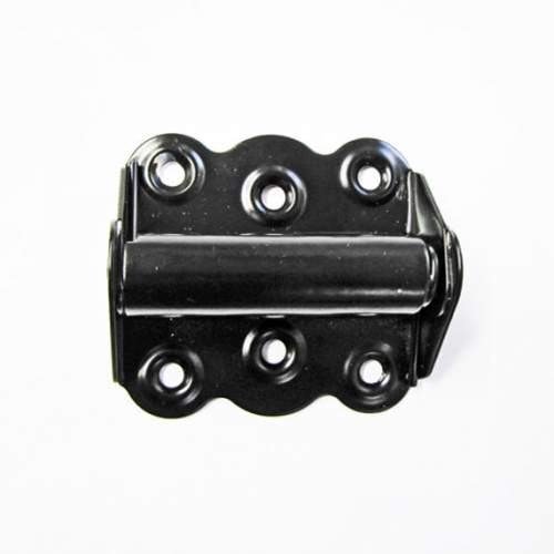 "Screen Door Sprin Hinges are steel construction and powder coated black. Dimensions are 2 3/4""L x 2 1/2"" W x 1""D."