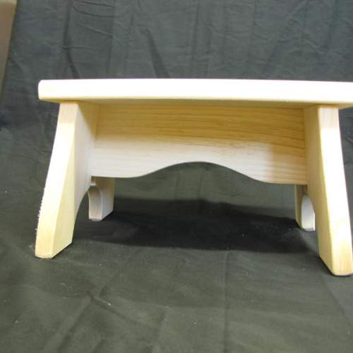 "Step Stool made of high quality Pine has been left unfinished. 12""x7""x7"" dimensions. Cottage Decor."