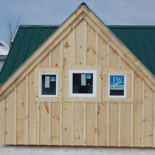 The 16x21 Fixed Insulated Windows are shown installed in a Writers Haven four season cabin