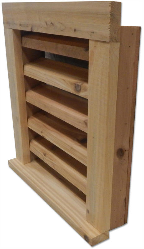 Pine Wood Louvered Vent