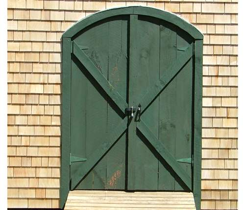 "5-0 JCS Built 2"" Thick Pine Arched Double Doors."
