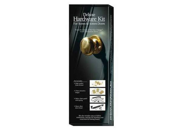 Deluxe Door Hardware for Screen and Storm Doors - the door handles that come with our kit are black.