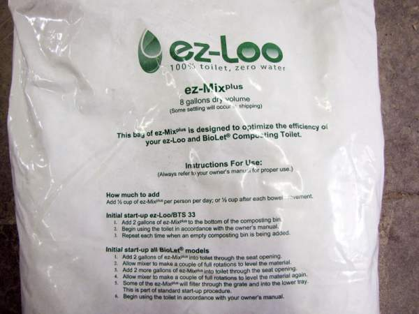 This eight (8) gallon dry volume bag contains 128 cups of Biolet ez-Mix Plus Daily Mix