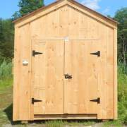 5' wide pine double doors create entrances that are capable of fitting wider equipment in your shed or barn.