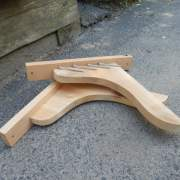 Wooden window box supports and hardware.  Made of Eastern White Pine.