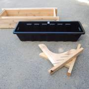 2' Window Flower Box with liner, Brackets and hardware.  Made of high-quality Cedar.