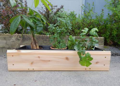 2' Window Flower Box with liner.  Made of high-quality Cedar.