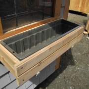 2' Window Flower Box with liner.  Made of high-quality Cedar. Installed under window.