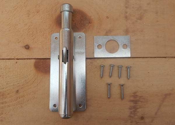 Hardware included with foot bolt